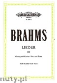 Okładka: Brahms Johannes, Songs for Voice and Piano, Vol. 3