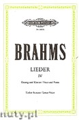 Ok�adka: Brahms Johannes, Songs for Voice and Piano, Vol. 4