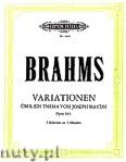 Okładka: Brahms Johannes, Variationen über ein Thema von Joseph Haydn, Op. 56b für 2 Klaviere zu 4 Händen