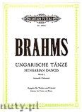 Ok�adka: Brahms Johannes, Hungarian Dances for Violin and Piano, WoO 1