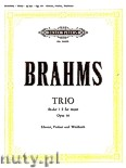 Okładka: Brahms Johannes, Trio No. 2 in E flat Op. 40 for Piano, Violin and Horn Es (or Viola or Violoncello)