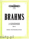 Okładka: Brahms Johannes, 2 Gesänge op. 91 für Altstimme, Viola (Violoncello) und Klavier