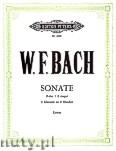 Okładka: Bach Wilhelm Friedemann, Sonate F-Dur für 2 Klaviere zu 4 Händen