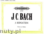 Okładka: Bach Johann Christian, 3 Original Sonatas for Piano - 4 Hands