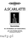 Okładka: Scarlatti Alessandro, Quartettino in F major for 3 Alto Recorders and Harpsihord