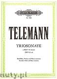 Ok�adka: Telemann Georg Philipp, Trio Sonata in A minor for Recorder, Violin and Basso continuo, TWV 42: a 4
