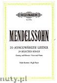 Ok�adka: Mendelssohn-Bartholdy Feliks, 20 Songs (High voice�Pf)