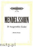 Okładka: Mendelssohn-Bartholdy Feliks, 20 Ausgewählte Lieder