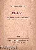 Okładka: Heider Werner, Dialog I (Cl—Pf)