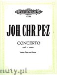 Okładka: Pez Johann Christoph, Concerto in E minor for Violine (or Flute) and Piano