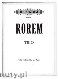 Okładka: Rorem Ned, Trio for Flute, Violoncello and Piano