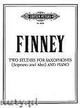 Okładka: Finney Ross Lee, Two Studies for Saxophones (Soprano and Alto) and Piano