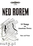 Ok�adka: Rorem Ned, 14 Songs on American Poetry