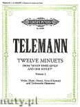 Okładka: Telemann Georg Philipp, 12 Minuets from Seven times Seven and one Minuet, Vol. 2
