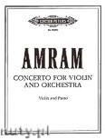 Okładka: Amram David, Konzert für Violine und Orchester (Ausgabe für Violine und Klavier)
