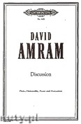Okładka: Amram David, Discussion for Flute, Violoncello, Piano and Percussion