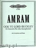 Okładka: Amram David, Ode to Lord Buckley for Alto Saxophone and Orchestra (Edition for Alto Saxophone and Piano)