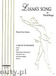 Ok�adka: Burge David, Liana's Song, Ballet in 6 Parts for Piano 4 Hands