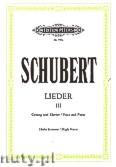 Ok�adka: Schubert Franz, Songs for Voice and Piano, Vol. 3 (High Voice)