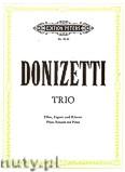 Ok�adka: Donizetti Gaetano, Trio in F for Flute, Bassoon and Piano
