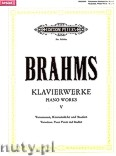Okładka: Brahms Johannes, Piano Works, Variations, Piano Pieces and Studies, Vol. 5