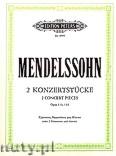 Okładka: Mendelssohn-Bartholdy Feliks, 2 Konzertstücke Op. 113, 114 für Klarinette, Bassetthorn und Klavier (oder 2 Klarinetten und Klavier)