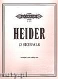 Okładka: Heider Werner, 12 Signals for Trumpet (or Horn) Solo
