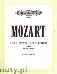 Okładka: Mozart Wolfgang Amadeus, Larghetto und Allegro Es-Dur KV 6 deest für 2 Klaviere