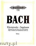 Ok�adka: Bach Johann Sebastian, Selected piano works - Supplement, Capriccio B-dur and E-dur, Aria variata, Fantasien, Fugen, Vorstudien from Wohltemperierten Klavier