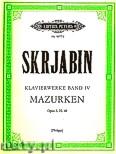 Okładka: Skriabin Aleksander, Selected Piano Works, Vol. 4, Mazurkas, Op. 3, 25, 40