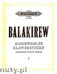Ok�adka: Balakirew Milij Alexejewitsch, Selected Piano Pieces, Vol. 1