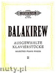 Ok�adka: Balakirew Milij Alexejewitsch, Selected Piano Pieces, vol. 2
