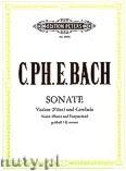 Ok�adka: Bach Carl Philipp Emmanuel, Sonate g-Moll f�r Violine (Fl�te) und Cembalo