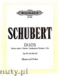 Ok�adka: Schubert Franz, Duos for Piano and Violin, Op. 70, 159, 160, 162
