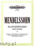 Okładka: Mendelssohn-Bartholdy Feliks, Piano Works, Vol. 2