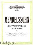 Okładka: Mendelssohn-Bartholdy Feliks, Piano Works, Vol. 5