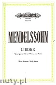 Ok�adka: Mendelssohn-Bartholdy Feliks, Songs for Voice and Piano (High Voice)