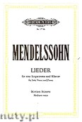 Ok�adka: Mendelssohn-Bartholdy Feliks, Songs for Solo Voice and Piano (Medium Voice)