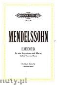 Okładka: Mendelssohn-Bartholdy Feliks, Songs for Solo Voice and Piano (Medium Voice)