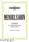 Okładka: Mendelssohn-Bartholdy Feliks, Songs for Solo Voice and Piano (Low Voice)