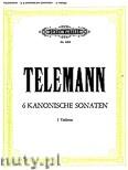 Ok�adka: Telemann Georg Philipp, 6 Canonic Sonatas for 2 Violines