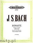 Okładka: Bach Johann Sebastian, Sonate A-Dur für Flöte und Cembalo, BWV 1032 (Erster Satz)