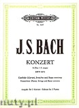 Ok�adka: Bach Johann Sebastian, Konzert f�r Cembalo (Klavier), Streicher und Basso continuo A-Dur BWV 1055