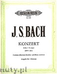 Ok�adka: Bach Johann Sebastian, Konzert f�r Cembalo (Klavier), Streicher und Basso continuo E-Dur BWV 1053