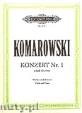 Ok�adka: Komarowski Anatoli, Violin Concerto No.1 in E minor for Violin and Piano