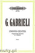 Okładka: Gabrieli Giovanni, Omnes gentes für 16 gemischte Stimmen in 4 Chören