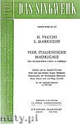 Ok�adka: Marenzio Luca, Vecchi Horatio, 4 Italienische Madrigale f�r gemischten Chor a capella