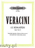 Okładka: Veracini Francesco Maria, 12 Sonaten für Blockflöte (Querflöte, Violine) und Basso continuo, Band 4