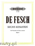 Ok�adka: Fesch Willem de, 6 Sonatas for Cello and Basso continuo, Op. 8