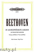 Okładka: Beethoven Ludwig van, 30 Selected Songs for Voice and Piano